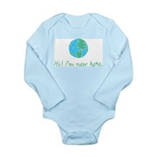 Cute Globe Long Sleeve Infant Bodysuit