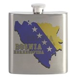 Flag Map of Bosnia Flask