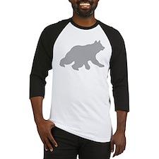 Gray Bear Cub Crossing Walking Silhouette Baseball
