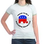 Wisconsin Republican Pride Jr. Ringer T-Shirt