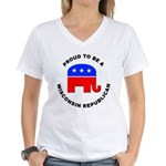 Wisconsin Republican Pride Women's V-Neck T-Shirt