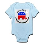 Wisconsin Republican Pride Infant Bodysuit