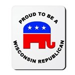 Wisconsin Republican Pride Mousepad