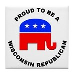 Wisconsin Republican Pride Tile Coaster