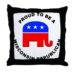 Wisconsin Republican Pride Throw Pillow