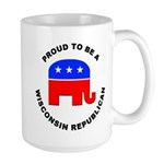 Wisconsin Republican Pride Large Mug