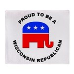 Wisconsin Republican Pride Throw Blanket