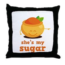 She's My Sugar Throw Pillow