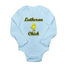 Lutheran Chick Long Sleeve Infant Bodysuit