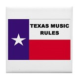 Texas Music Tile Coaster