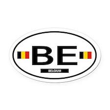 BELGIUM.png Oval Car Magnet