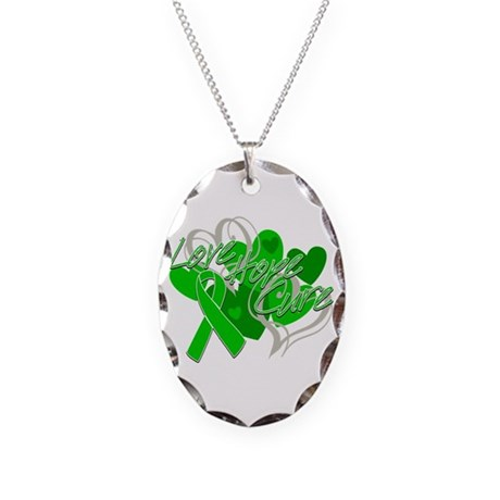 TBI Love Hope Cure Shirts Necklace Oval Charm