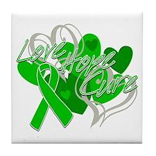 TBI Love Hope Cure Shirts Tile Coaster