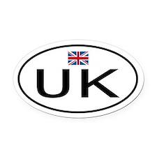 UK.png Oval Car Magnet