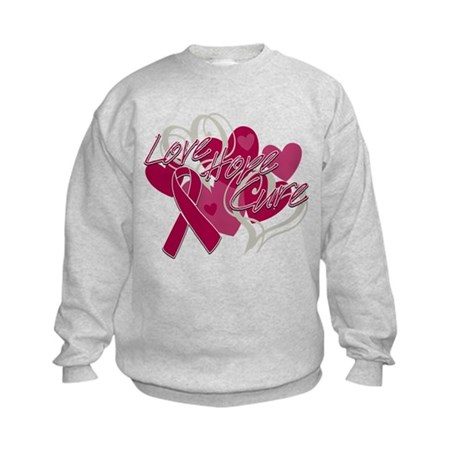 Sickle Cell Anemia Love Hope Cure Kids Sweatshirt