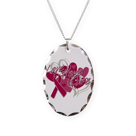 Sickle Cell Anemia Love Hope Cure Necklace Oval Ch