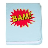 Comic Book BAM! baby blanket