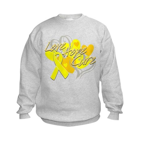 Sarcoma Love Hope Cure Kids Sweatshirt