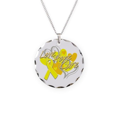 Sarcoma Love Hope Cure Necklace Circle Charm