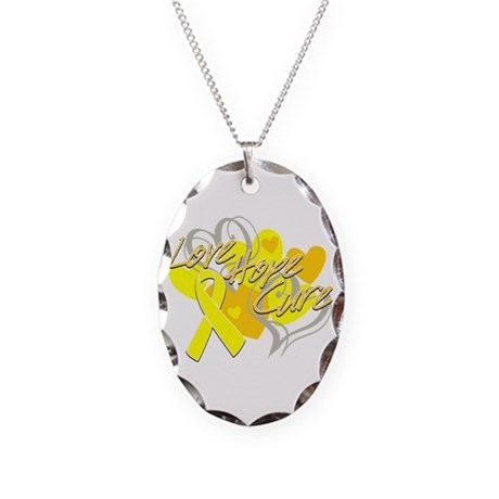 Sarcoma Love Hope Cure Necklace Oval Charm