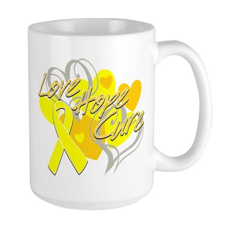 Sarcoma Love Hope Cure Large Mug