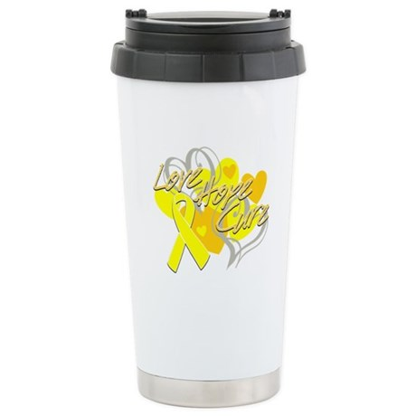 Sarcoma Love Hope Cure Ceramic Travel Mug