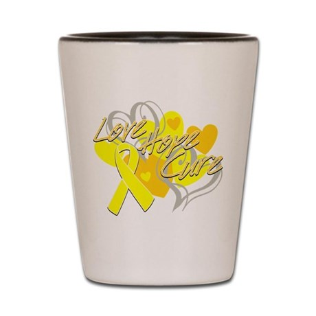 Sarcoma Love Hope Cure Shot Glass