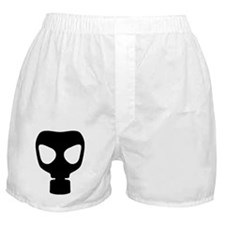 Black Gas Mask Boxer Shorts