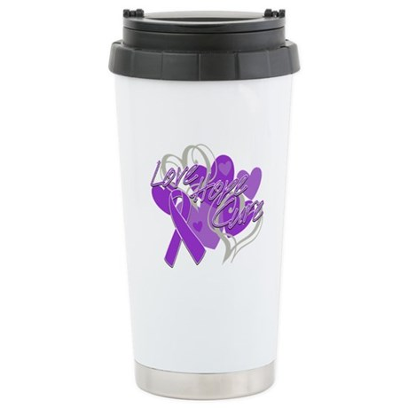 Sarcoidosis Love Hope Cure Ceramic Travel Mug
