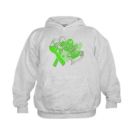 Lymphoma Love Hope Cure Kids Hoodie