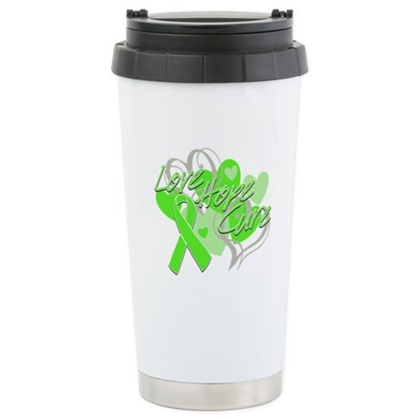 Lymphoma Love Hope Cure Ceramic Travel Mug