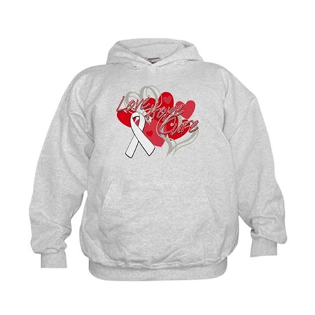 Lung Cancer Love Hope Cure Kids Hoodie