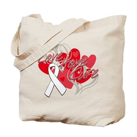 Lung Cancer Love Hope Cure Tote Bag