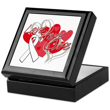 Lung Cancer Love Hope Cure Keepsake Box