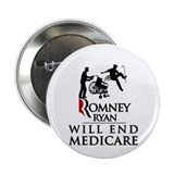 "Romney Ryan Will End Medicare 2.25"" Button"