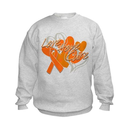 Leukemia Love Hope Cure Kids Sweatshirt