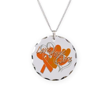Leukemia Love Hope Cure Necklace Circle Charm