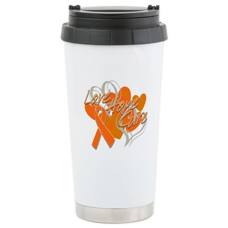 Leukemia Love Hope Cure Ceramic Travel Mug
