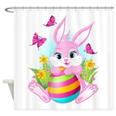 Http Www Cafepress Com Pink Easter Bunny Shower Curtain 683590099