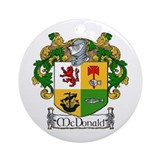 McDonald Coat of Arms Ornament (Round)
