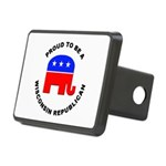 Wisconsin Republican Pride Rectangular Hitch Cover
