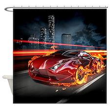 Hot Car Fantasy Shower Curtain