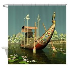 Ancient Egyptian Barge Shower Curtain