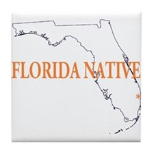 Florida Native Tile Coaster