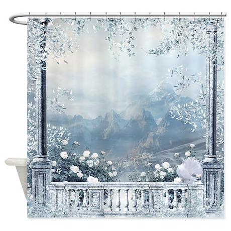 Gifts gt balcony bathroom d 233 cor gt winter balcony view shower curtain