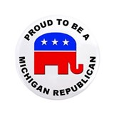 "Michigan Republican Pride 3.5"" Button (100 pack)"