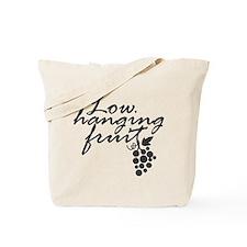 Low Hanging Fruit, Grapes, Wine Lover Tote Bag