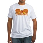 Halloween Pumpkin Mitchell Fitted T-Shirt