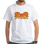 Halloween Pumpkin Mitchell White T-Shirt