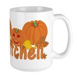 Halloween Pumpkin Mitchell Large Mug